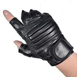 Leather Fingerless Gloves 1