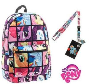 My Little Pony Backpack With Keychain Charm 300x284