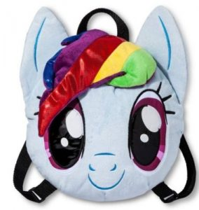 My Little Pony Girls Plush Mini Backpack 284x300