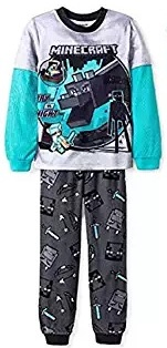 blue minecrafts dragon pajama set