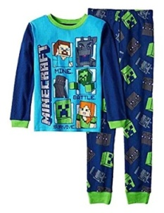blue minecrafts pajama set