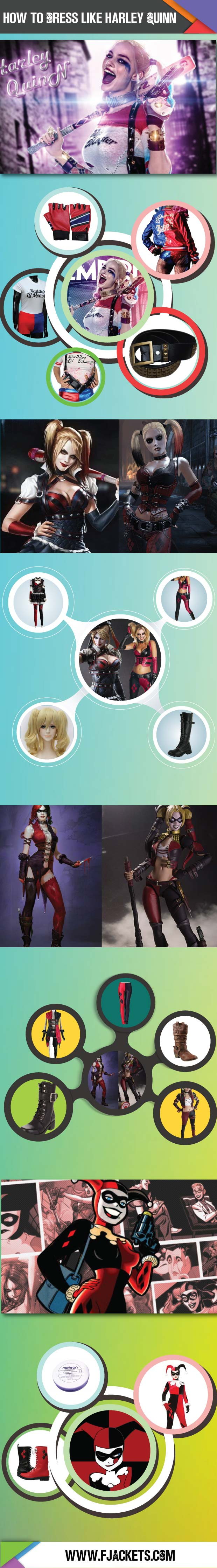Complete Harley Quinn Costume Infographic