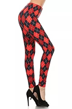 harley quin black red trouser pant