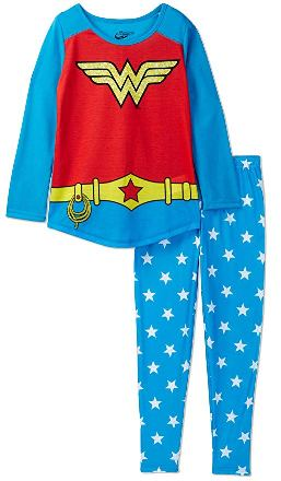 kids wonder woman pajama set