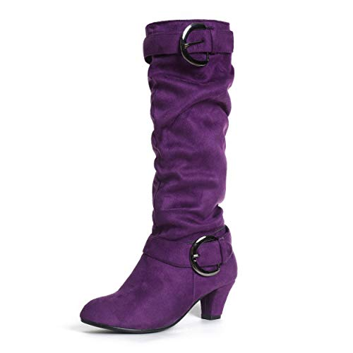 mileena purple knee high shoes boots