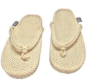 rope flip flop sandal khaki