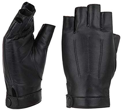 Womens Leather Fingerless Gloves