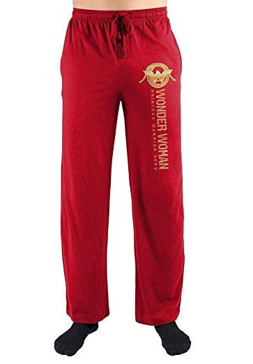 wonder woman red pajama pant
