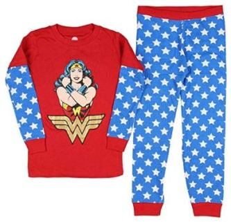 wonderwoman pajama set girl