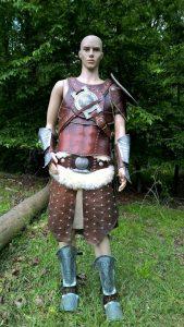 Cosplay Skyrim Dovahkiin Leather Armor 169x300