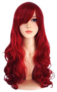 Dark Wine Red Hair Wig 187x300