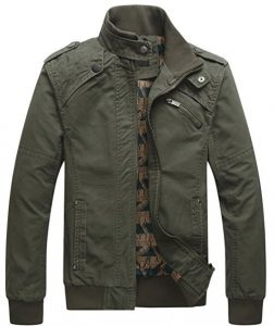 Mens Casual Army Green Jacket 252x300