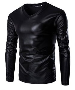 Mens Leather T Shirt 251x300