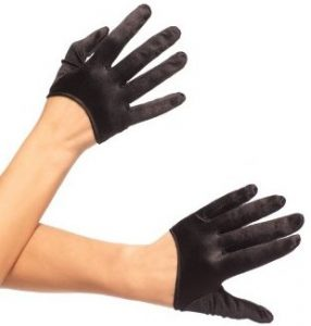 Mini Cropped Satin Gloves 286x300