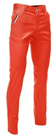 Orange Slim Fit Pants