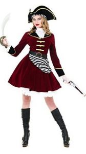 Womens Captain Hook Costume With Hat 168x300