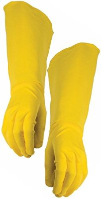 Yellow Women Cosplay Gloves