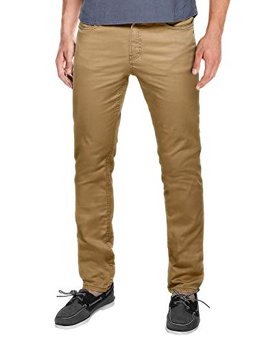 slim fit pant brown khaki