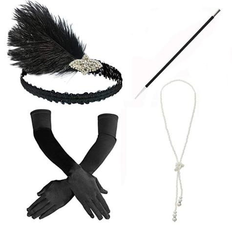 1920s Flapper Costume Set Accessories