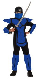 Childs Blue Ninja Costume 145x300