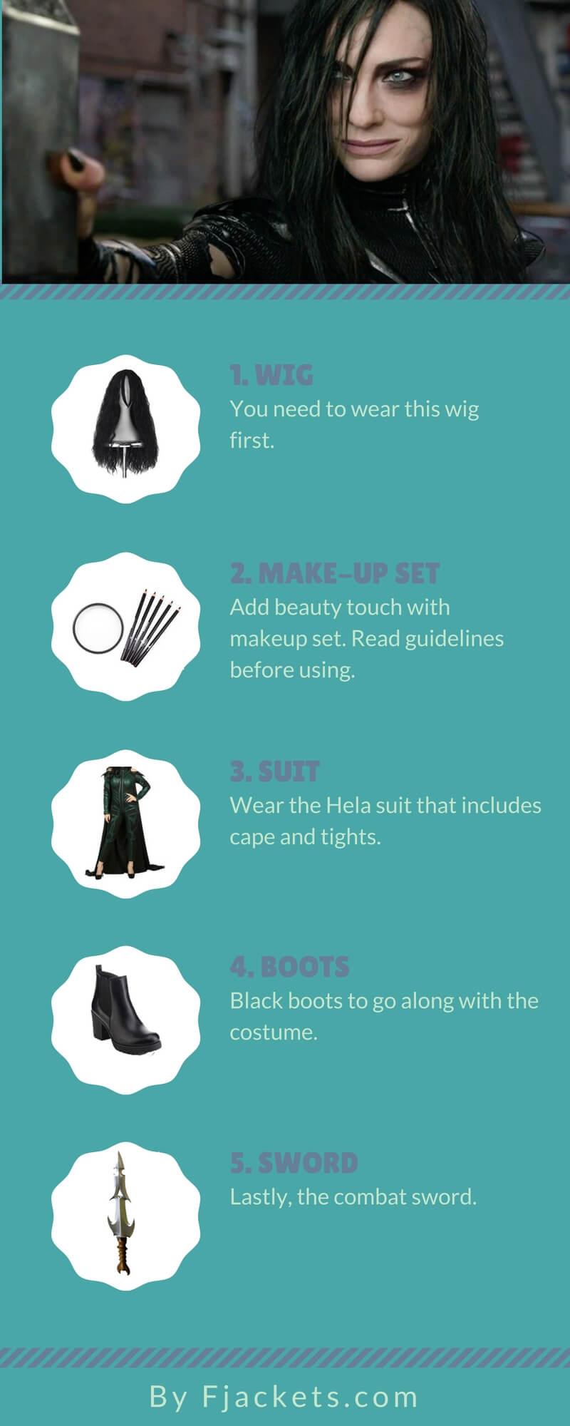 Hela Costume DIY Infographic