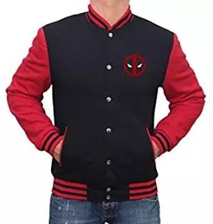 deadpool logo letterman varsity jacket