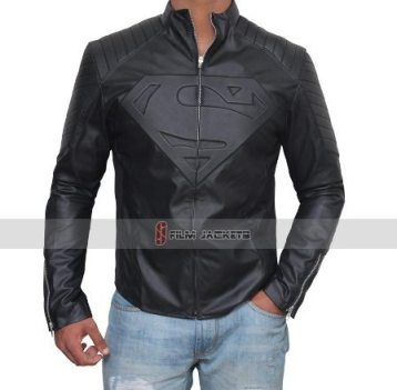 superman black jacket