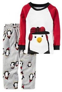 Little Boys Penguin Pajama Set