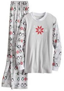 Mens Penguin Print Pajama set