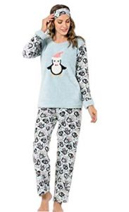 Penguin Women's Plush Pajama Set