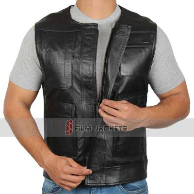 han solo leather vest