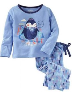 Penguin Girls Pajama Set