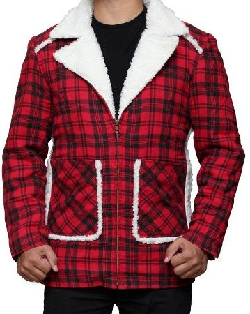 Stylish Shearling Red Flannel