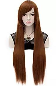 brown wig black widow