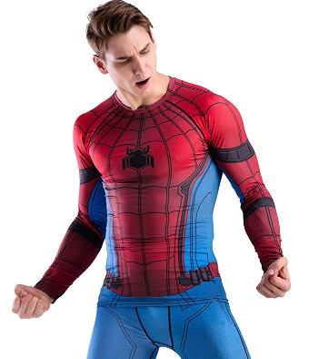 compression shirt spiderman
