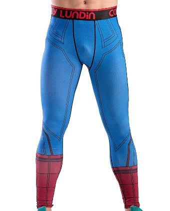 spiderman tights pant blue
