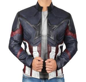 captain america infinity war blue jacket