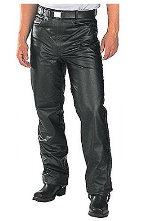 Men's Fitted Leather Pants