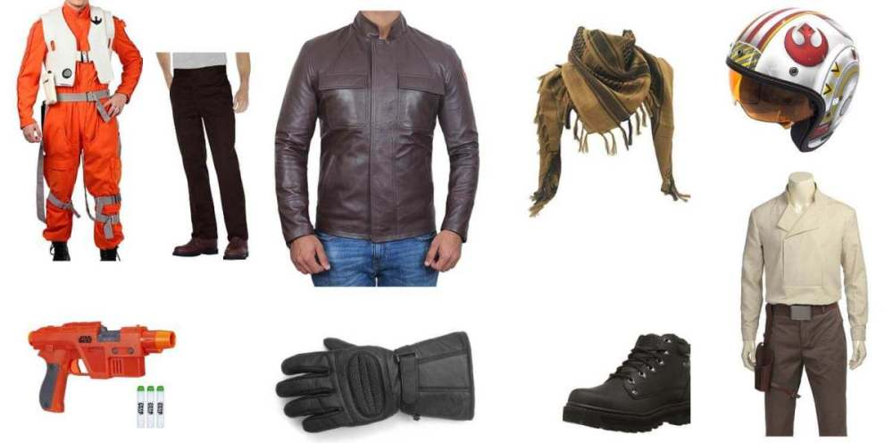 Poe Dameron Costume Items
