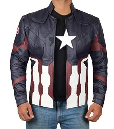 Captain America Blue and White Jacket
