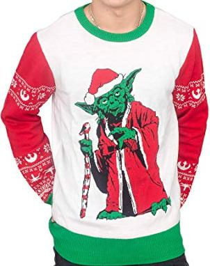 Jedi Yoda Santa Christmas Sweater