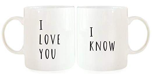 i love you i know cup mug set