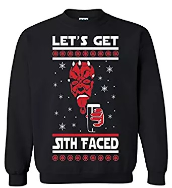 star wars lets get sith faced sweater