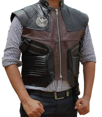 Leather hawkeye vest