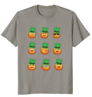 St Patricks Emoji Shirt