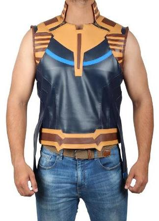 thanos leather vest