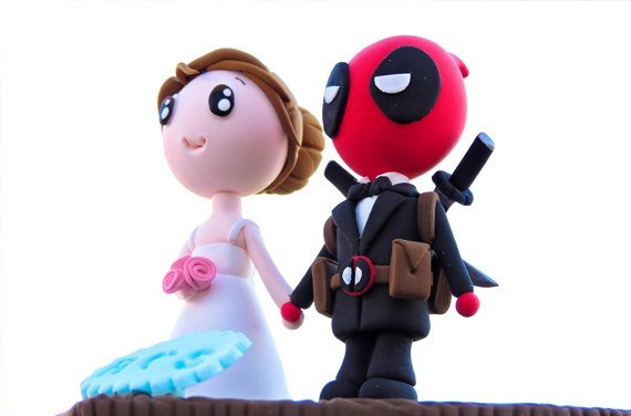 Deadpool Wedding Cake Topper
