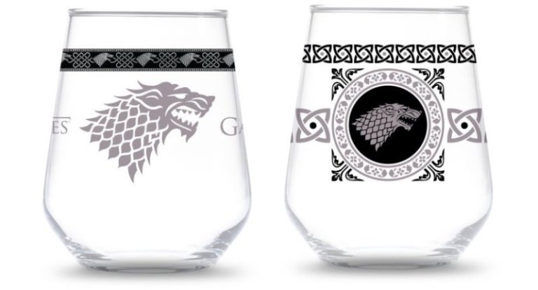 House Stark Stemless Wine Glasses