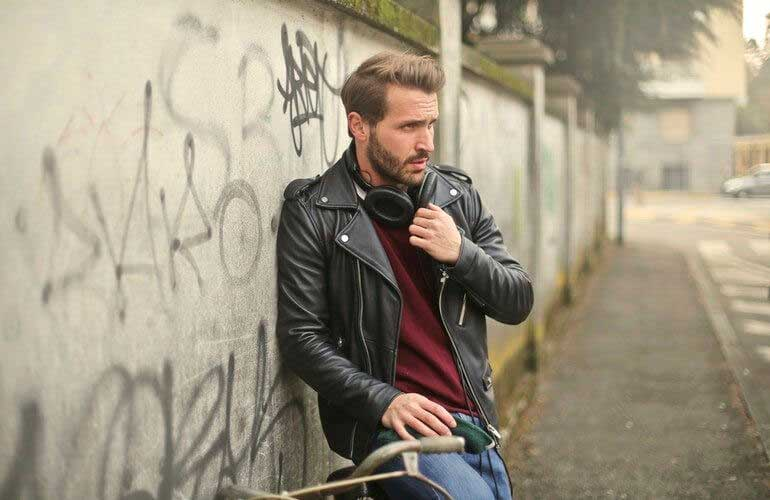 Biker-Style-Leather-Jacket-for-men