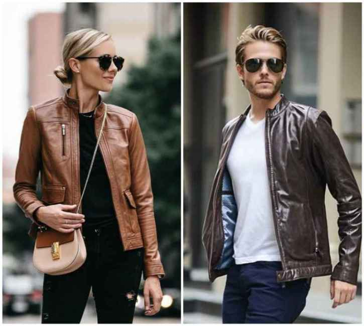 Brown Leather Jacket Fashion
